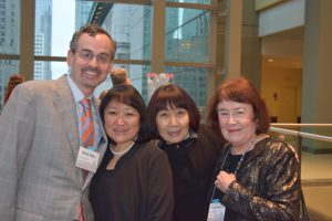 Foundation board member Steve Alley, with Marianne Reed, Nobuko Anderson, and board member Jeanne Peterson.