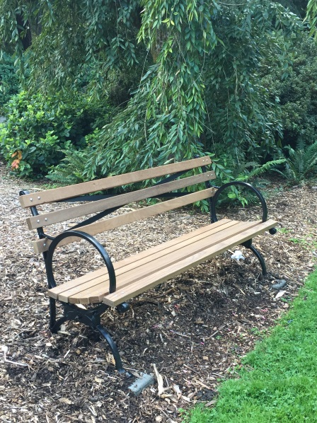 "In keeping with the Olmsted heritage of the Arboretum, we offer the iconic ""World's Fair Bench."""
