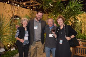 The one and only Ciscoe, with (from left to right) his wife Mary, Foundation board member Jason Morse, and garden writer Mary-Kate Mackey.