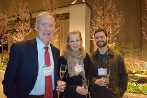 Foundation board member Skip Vonckx, our display garden intern Katie Tenneson, and Martin Selasco.