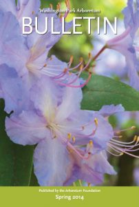 Cover of the spring 2014 issue, featuring Rhododendron augustinii.