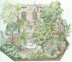 "Rendering of ""The Garden of Artful Delight,"" by Rhonda Bush."