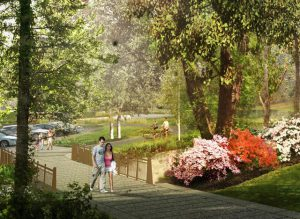 Rendering of the Birch Parking Lot bridge on the new Arboretum Loop Trail. (Photo courtesy the Berger Partnership)