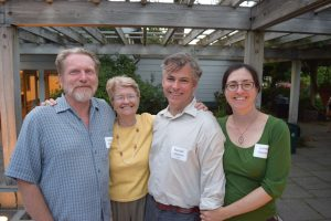Beloved staff member Randal Hitchin (second from right) with wife Lynne Kanne (right), garden writer Daniel Mount, and Foundation director Paige Miller. Randall will be sorely missed!