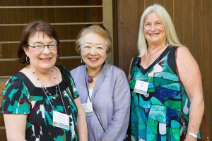 Jeanne Peterson, Noriko Palmer, and Zanny Milo enjoying the event.