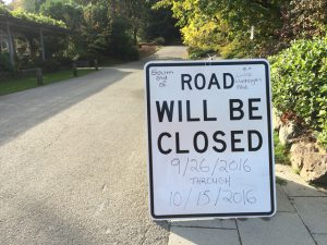 Access to and from the Arboretum at the south end of Arboretum Drive will be closed until October 15.